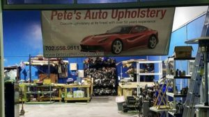 Pete's Upholstery new location 1251 American Pacific Drive, Suite 112. Henderson NV 89074